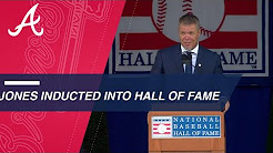 Chipper Jones inducted into the Baseball Hall of Fame