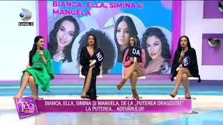 Teo Show(27.10.)-Bianca, Ella, Simina si Manuela, la puterea adevarului! A fost atrasa de iubitul...