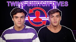 TWINS SWITCH LIVES FOR A DAY...