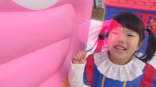 Yuni Pretend Play with GIANT ICE CREAM 커져라 얍! 거대 아이스크림이 나타났어요!(거대함주의)Giant ice cream Inflatable Toys