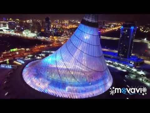 Ночная Астана с