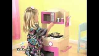 Kidkraft Pink Wooden Kitchen   53195