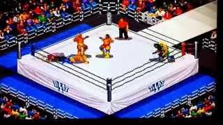 Fire Pro Wrestling Six Man Scramble- Sega Saturn- CPU Demo