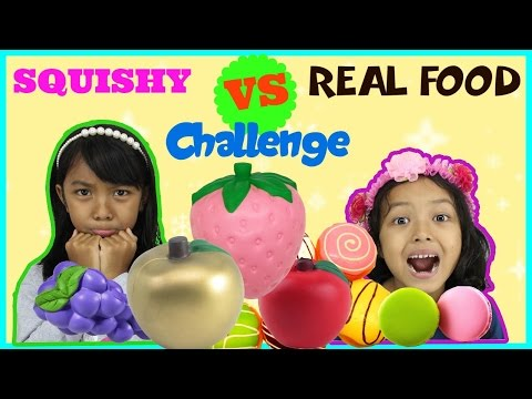 Squishy Toys Vs Real Food : SQUISHY FOOD VS REAL FOOD CHALLENGE INDONESIA KIDS EDITION - YouTube