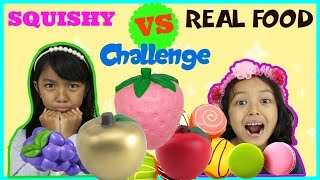 SQUISHY FOOD VS REAL FOOD CHALLENGE INDONESIA KIDS EDITION