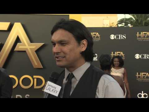 Adam Beach Red Carpet Interview - Hollywood Film Awards 2014