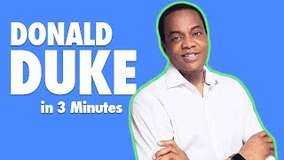 Donald Duke in 3 minutes (2019 Presidential Candidate)