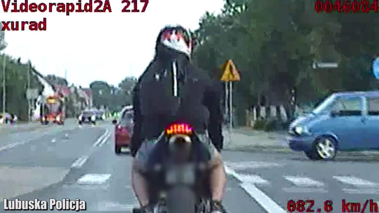 Pościg za motocyklistą w Nowej Soli. Pędził ponad 110 km/h
