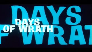 Days of Wrath (I giorni dell'ira) English trailer designed by Iginio Lardani