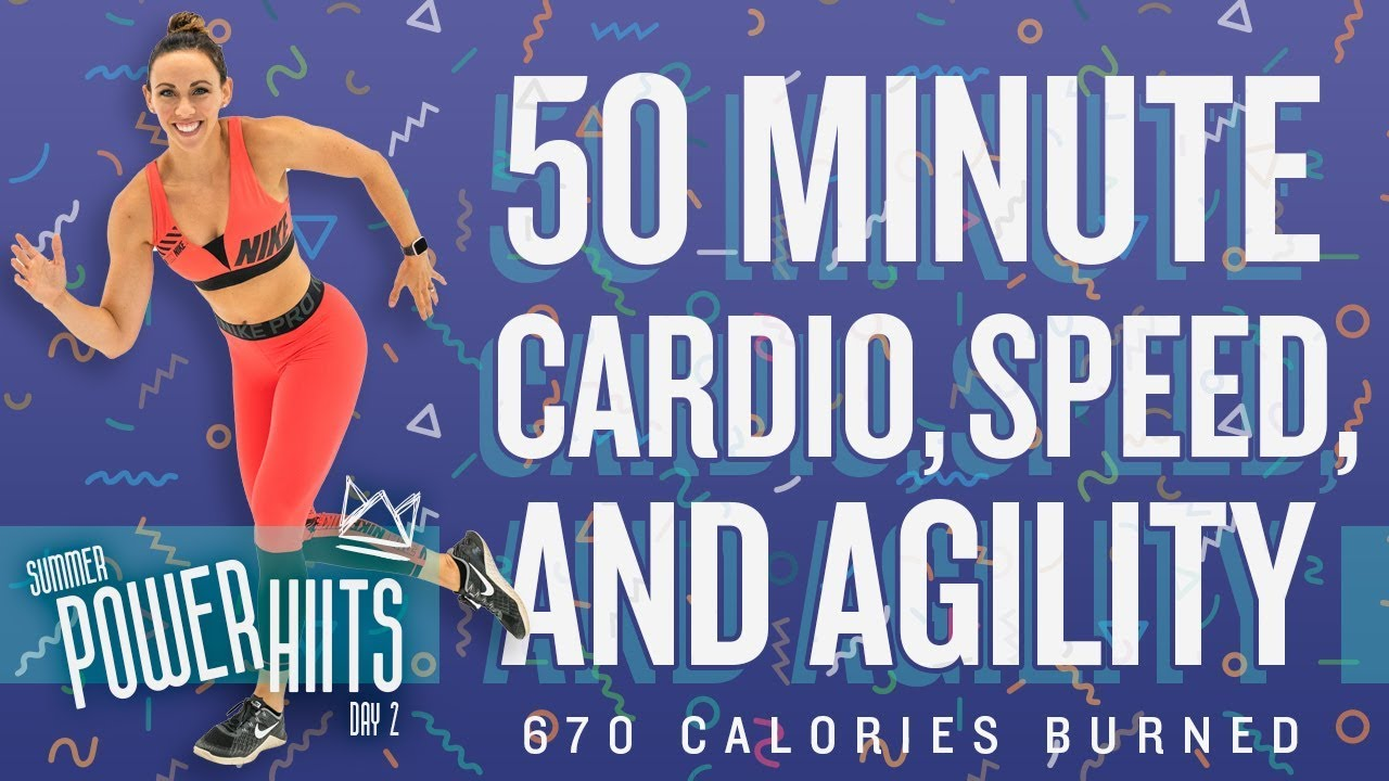 50 Minute Cardio Speed and Agility HIIT Workout 🔥Burn 670 Calories!*  🔥Sydney Cummings