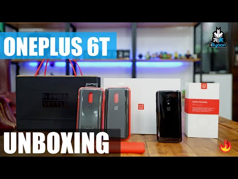 OnePlus 6T Unboxing and First Impressions, In Display Fingerprint Smaller Notch
