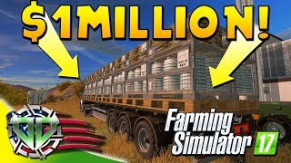 Farming Simulator 2017 Gameplay : $1 Million Caviar Trailer! (PC HD American Outback)