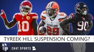 NFL Rumors: Tyreek Hill Suspension, Jadeveon Clowney Minicamp, Duke Johnson Trade, Cam Newton Injury