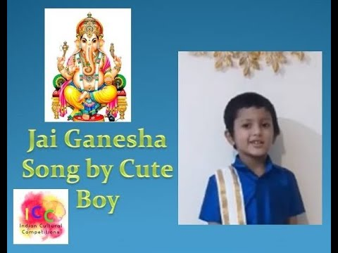 Jai ganesha song by cute little boy