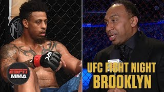 Stephen A. Smith reacts to Greg Hardy's DQ | UFC Fight Night: Brooklyn