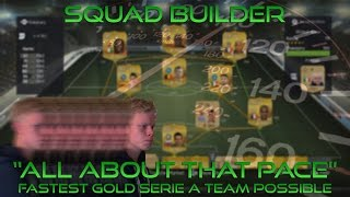 "Squad Builder | ""All About That Pace""! - Fastest Serie A Squad Possible - LIVE GAMEPLAY & RAGE CAM! Thumbnail"