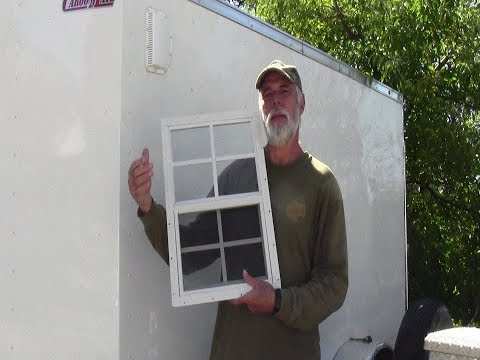 Cargo Trailer Window Install (Safety Glass)