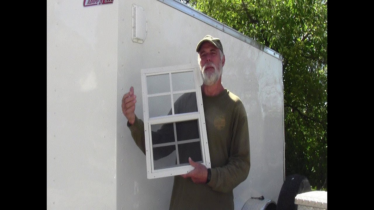 Cargo Trailer Window Install Safety Glass Youtube