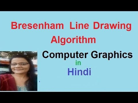 Bresenham Line Drawing Algorithm in Hindi