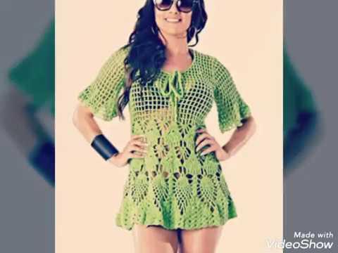 2c13ee1d0a56 Vestido para la playa tejido a crochet – el patrón   Crochet.eu