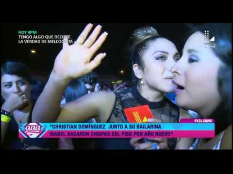Christian Domínguez recibió el Año Nuevo junto a su bailarina Isabel Acevedo