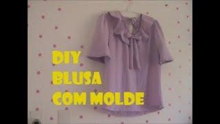 Blusa de Babados Com Molde DIY