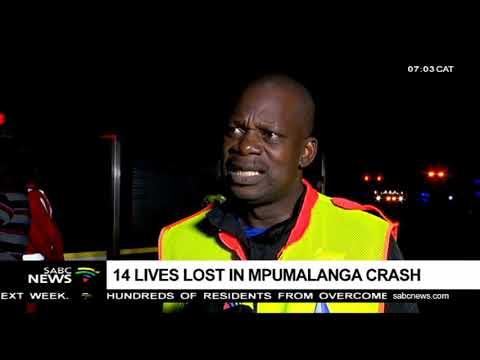 14 die in a multi-vehicle crash on the N4, Mpumalanga
