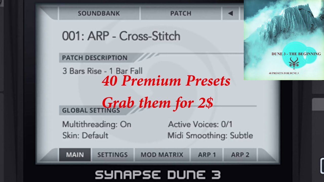 DUNE 3 Synth: The Beginning - 40 Presets