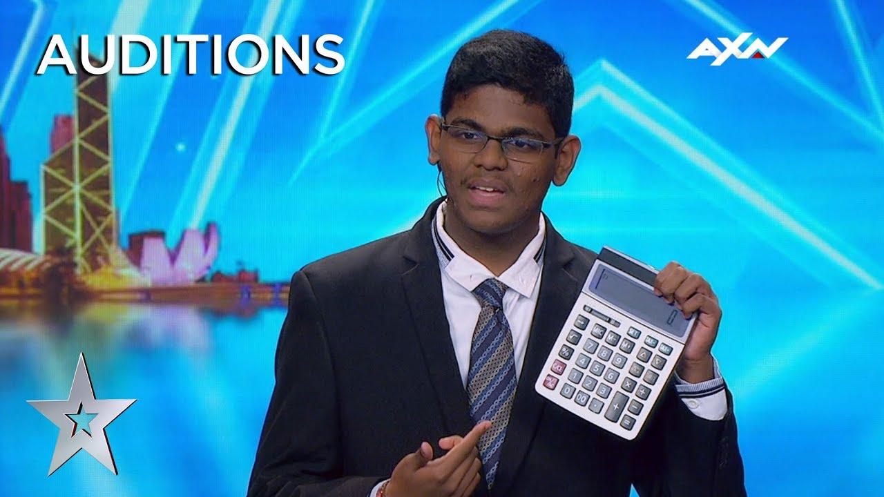 Człowiek kalkulator w amerykańskim Mam Talent