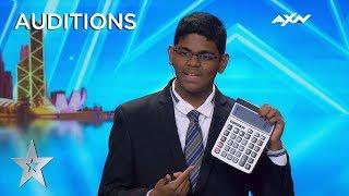 15 Year Old Yaashwin Sarawanan Is A Human Calculator!   Asia's Got Talent 2019 On Axn Asia