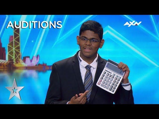 15 Year Old YAASHWIN SARAWANAN Is A HUMAN CALCULATOR! | Asias Got Talent 2019 on AXN Asia
