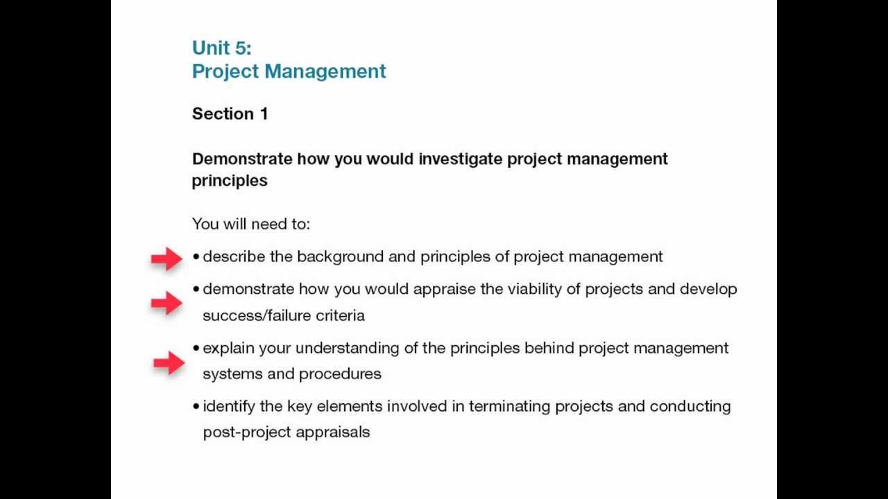 unit project management assignment level  unit 5 project management assignment level 5