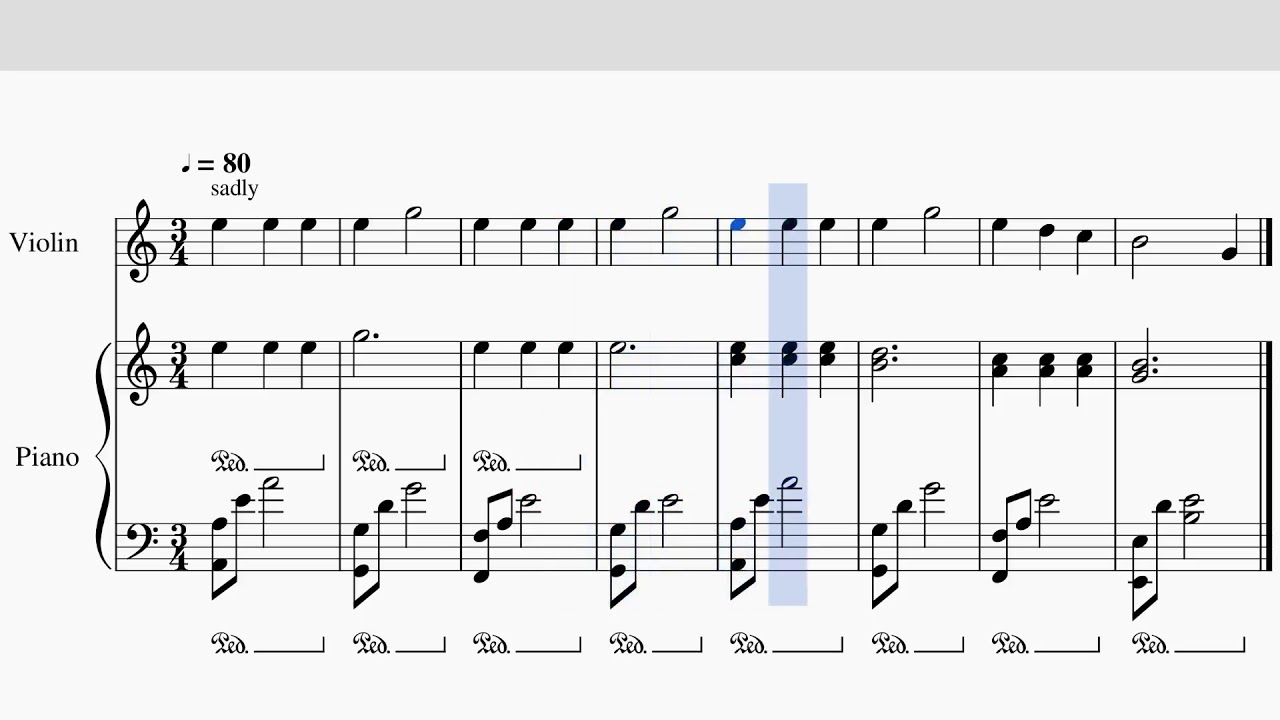 Sad Violin - Meme Music Chords - Chordify