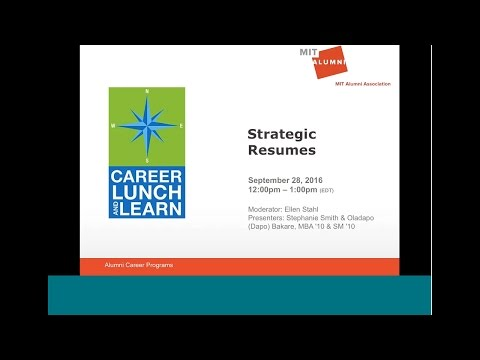 Career Lunch & Learn: Strategic Resumes