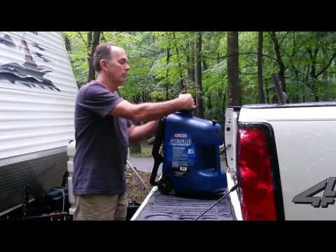 Tip for filling fresh water tank while boondocking or dry camping.
