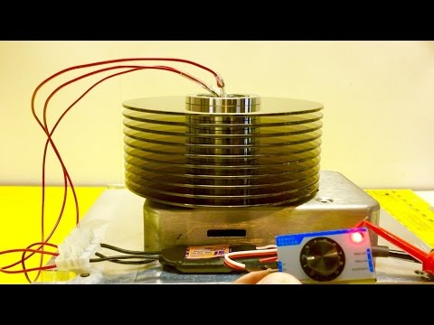 Fun with Magnets & Hard Drives | Lenz's Law Demo - Magnets Levitating on Hard Drive Platters