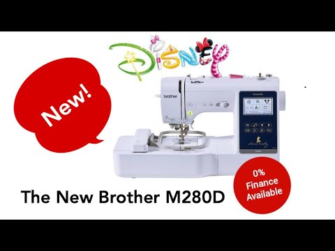 Introducing The New Brother M40D Disney Sewing Embroidery Machine Extraordinary Disney Sewing Machine