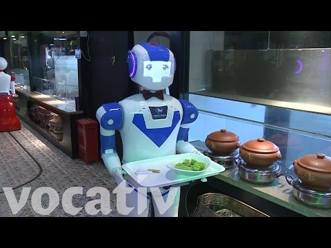 wine article Robots Are The Waiters At This Restaurant