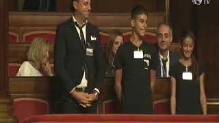 In Senato i fratelli barlettani Tesse, campioni itaiani di Danza Latina