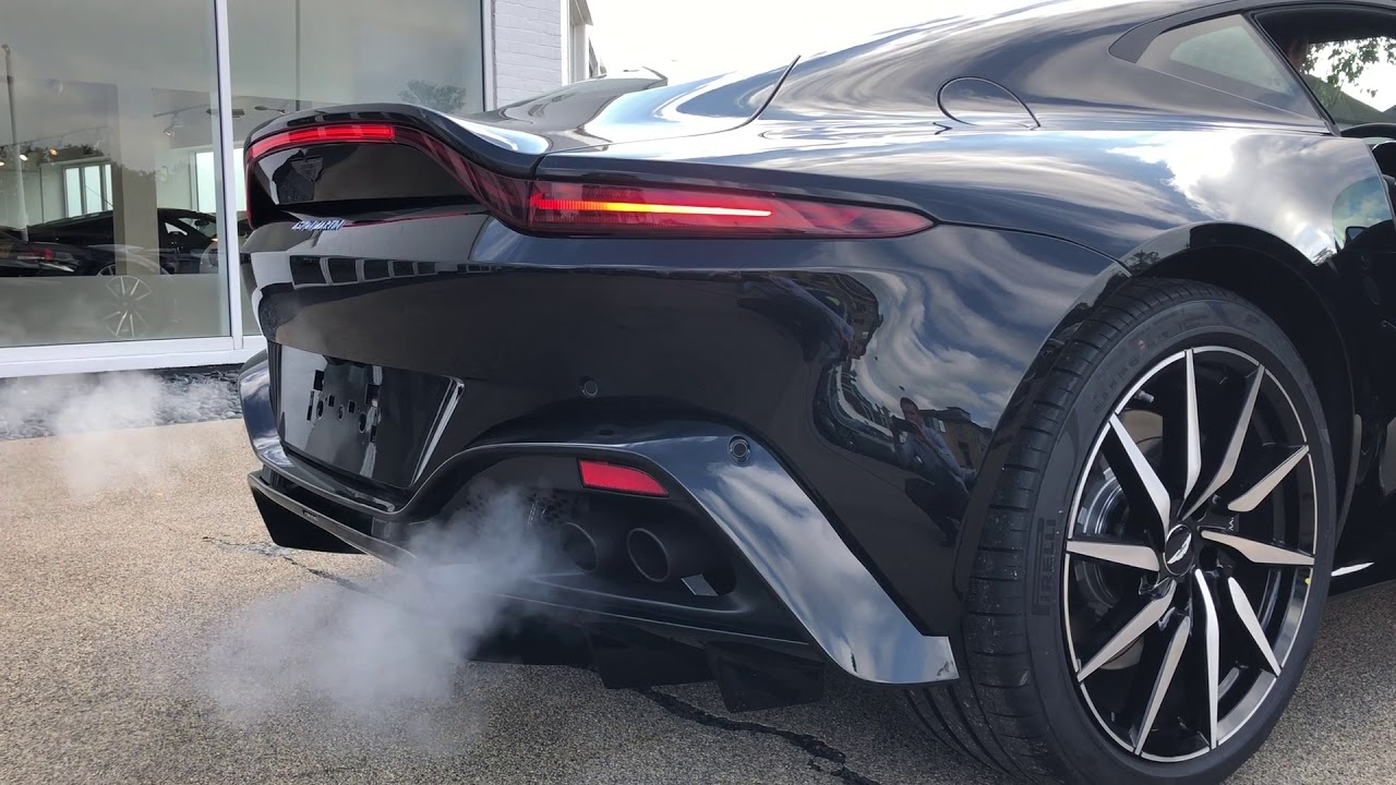 Aston Martin Vantage Quad Sports Exhuast Youtube