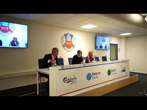 Presskonferensen efter HIF – AFC