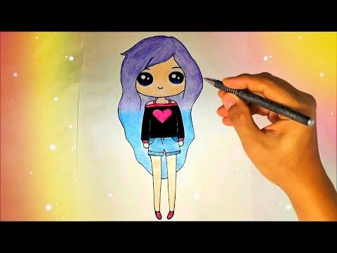 Как нарисовать прикольную девочку