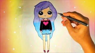 Как нарисовать кавайную милую ДЕВОЧКУ? Лёгкие рисунки для детей