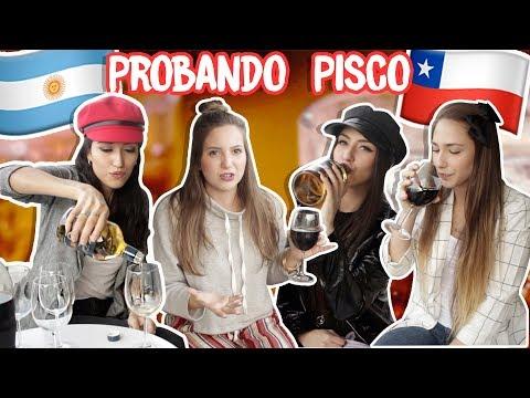 ARGENTINAS PRUEBAN PISCO CHILENO./ primera vez probando piscola en Chile/