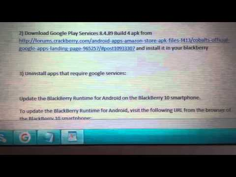 download google play service apk for bb z10