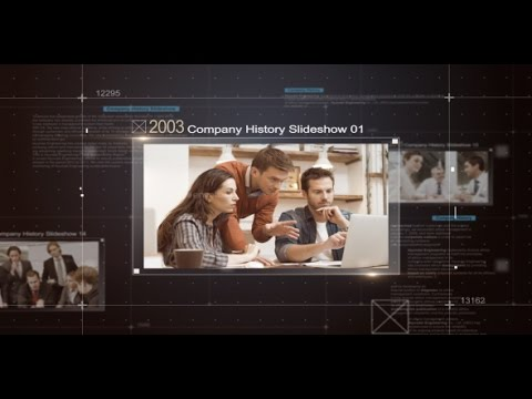Company History Slideshow After Effects template - YouTube