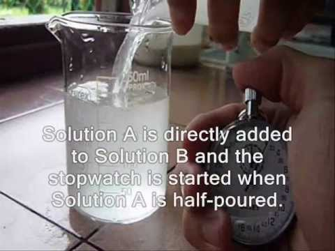 Iodine Clock Reaction