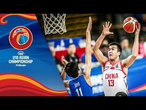 China v Philippines - Full Game - Semi-Finals - FIBA U16 Asian Championship