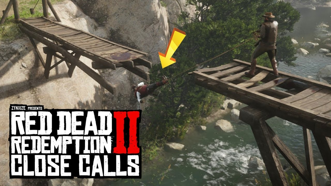 Seconds from Disaster in RDR2 (Red Dead Redemption 2 Close Calls)