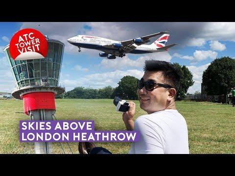 Skies Above London Heathrow - ATC Tower Visit + Plane Spotting